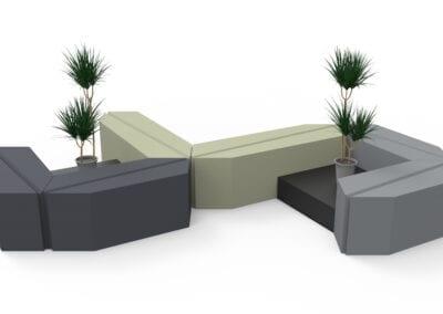 Leaf Bench setting